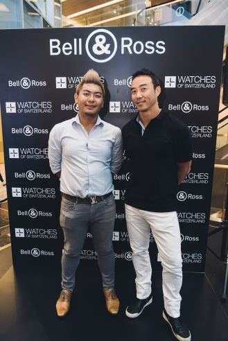 Allan Wu (emcee) and Mr Jackie Teo (Golf Vacations)