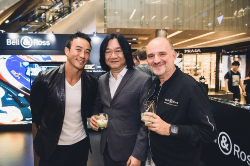 Allan Wu (Emcee), Mr Tong Chee Wei (GM Bell & Ross Asia) and Mr Carlos Rosillo (CEO Bell & Ross)