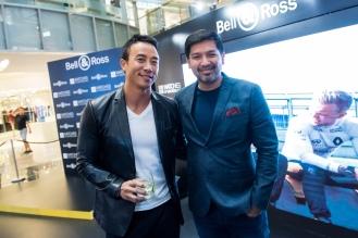 Emcee Allan Wu with Mr Rubin Khoo (Prestige Malaysia & August Man Malaysia)