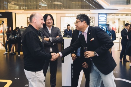 Mr Carlos Rosillo (CEO Bell & Ross), Mr Tong Chee Wei (GM Bell & Ross Asia), Peter Chong (Deployant)