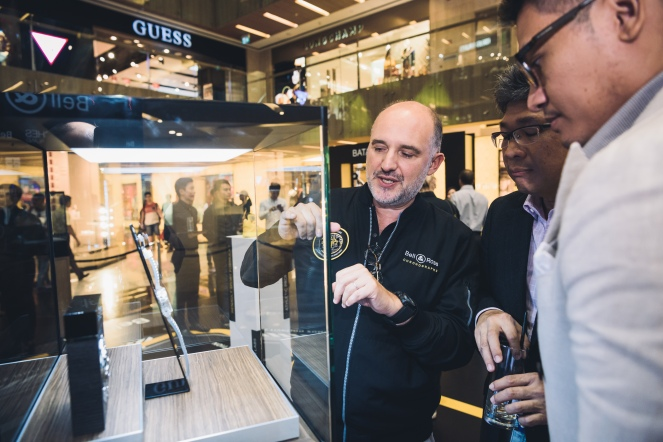 Mr Carlos Rosillo (CEO Bell & Ross) with Peter Chong & Jonathan Ho (Deployant)