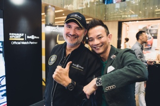 Mr Carlos Rosillo (CEO Bell & Ross) with William Kee (The Star)