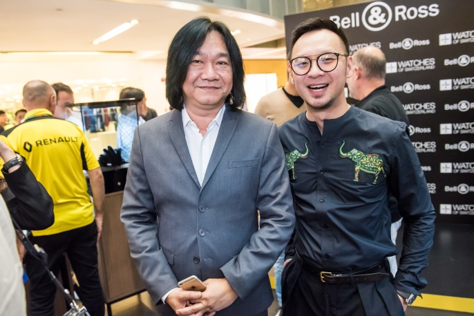 Mr Tong Chee Wei (GM Bell & Ross Asia) and Mr Wenlai Yun